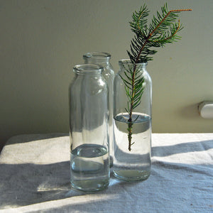 Tall Mill Glass Botlle Vase
