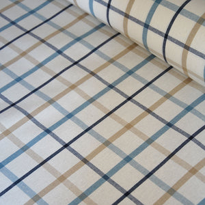 Classic Tattersall check oilcloth table covering