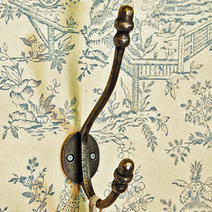 Traditional Victorian acorn wall coat hook