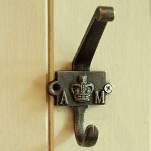 Air Ministry vintage wall mounted single coat hook