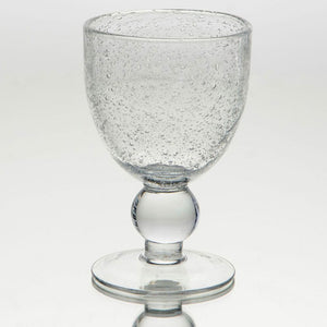 French bubble transparent wine glass
