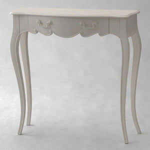 Classic French Apolline slim ornate console table