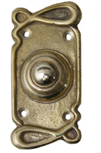 Art nouveau antique deco  brass push door bell
