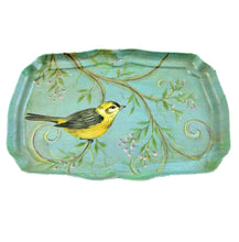 Blue vintage bird print dressing table tray