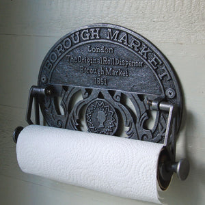 Borough Market antique design wall mounted kitchen roll holder