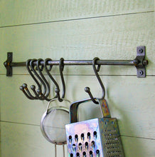 Broughton vintage style rail with sliding meat hooks