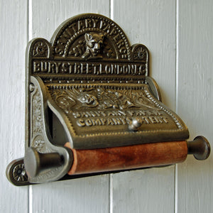 Antique style Bury Street wall mounted toilet roll holder