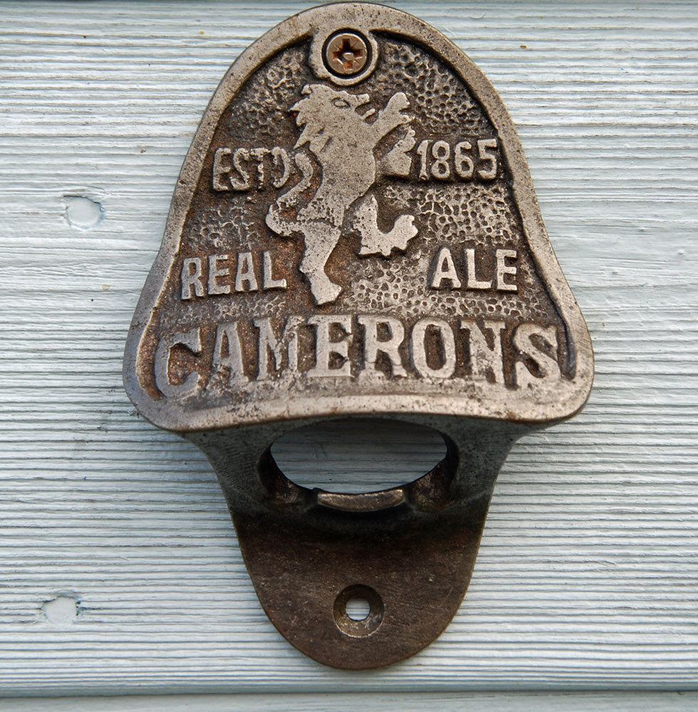 Camerons real ales vintage wall mounted beer bottle opener