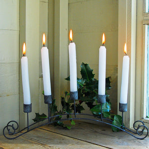 Traditional Danish candelabra arch for five dinner candles