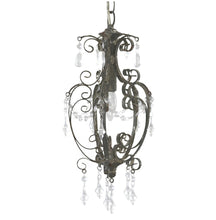 French vintage antique iron chandelier light fitting