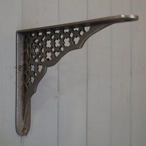 Hove antique art deco style cast iron wall shelf bracket.
