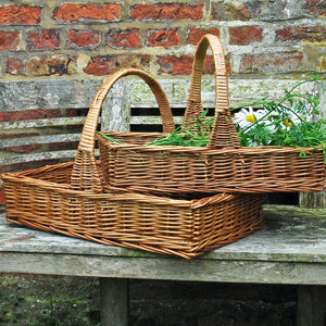 Traditional willow Chester garden trug