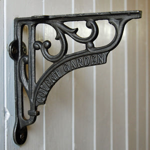 Cast metal vintage style Covent Garden wall shelf bracket 150mm