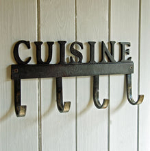 French cast metal cuisine kitchen hooks rack