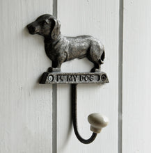 Dachshund dog single wall coat hook