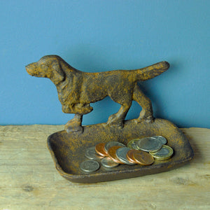 Antique design metal dog tray