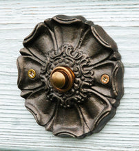 Round bell push antique Harworth door buzzer