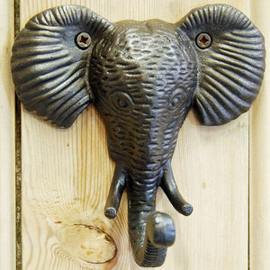 Elephant wall mounted single coat hook