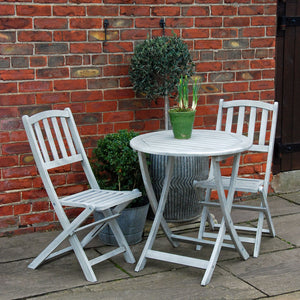 Runswick hardwood garden furniture bistro set