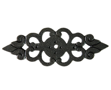 Antique brass filigree back plate