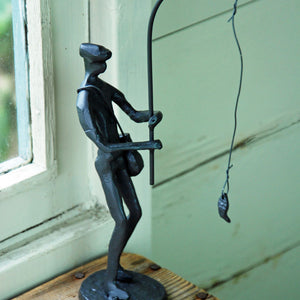Fisherman abstract statue portrait