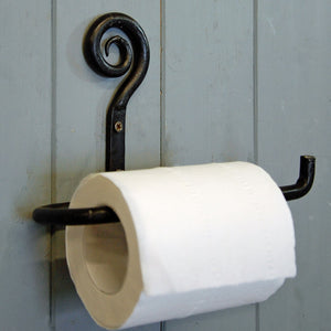 Traditional forged folk toilet roll holder