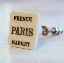French Paris market square kitchen drawer knob
