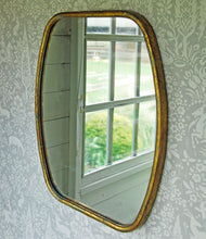 Vintage chateau gold portrait wall mirror