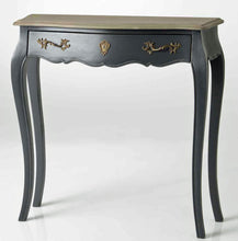 French Murano dark grey slim console table