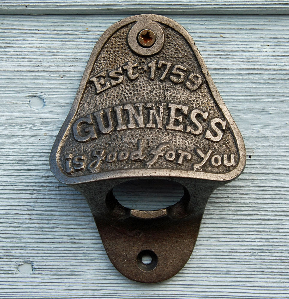 Cast Iron Wall Mounted Vintage Antique Style Bottle Opener GUINNESS