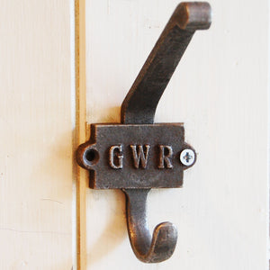 GWR cast metal retro coat hook