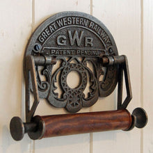 Traditional GWR railways wall mounted toilet loo roll holder.