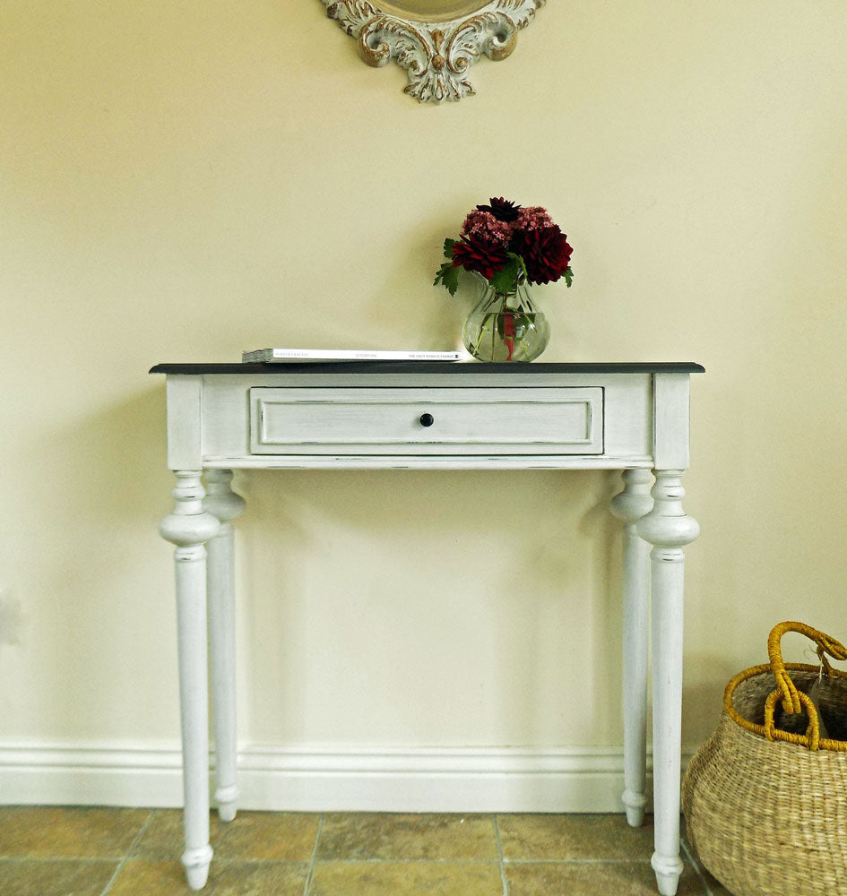 French heritage legende white console table