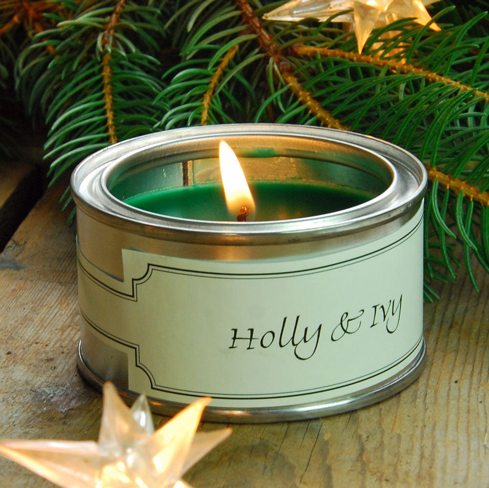Pintail scented candle filled tin Holly & Ivy fragrance