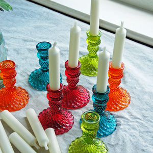 Vintage Jewel Glass Candle Holder