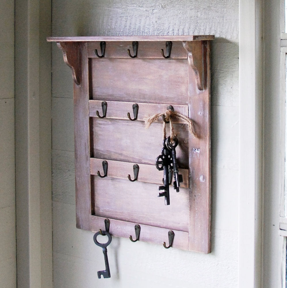 Vintage key storage board