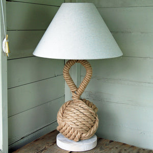 Sidmouth rope knot table lamp