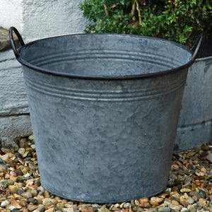 Normandy vintage style round metal garden planter tub-Extra large