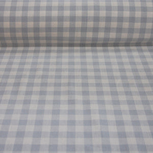 Lechlade duck egg blue gingham cotton fabric
