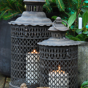 Small Spanish fretwork metal lantern
