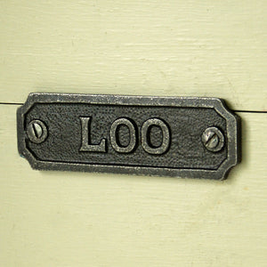 Vintage style cast iron loo door plaque