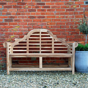 Classic Marlborough teak garden bench