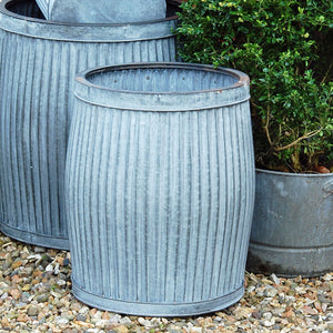Vintage style galvanised dolly planter