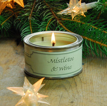 Pintail scented candle filled tin Mistletoe & Wine fragrance
