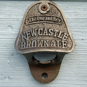 Newcastle Brown Ale vintage wall mounted beer bottle opener