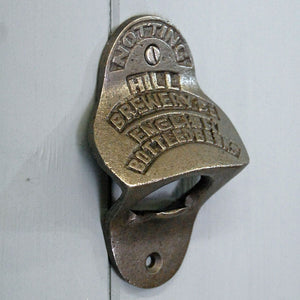 Wall mounted metal bottle opener vintage Notting Hill design