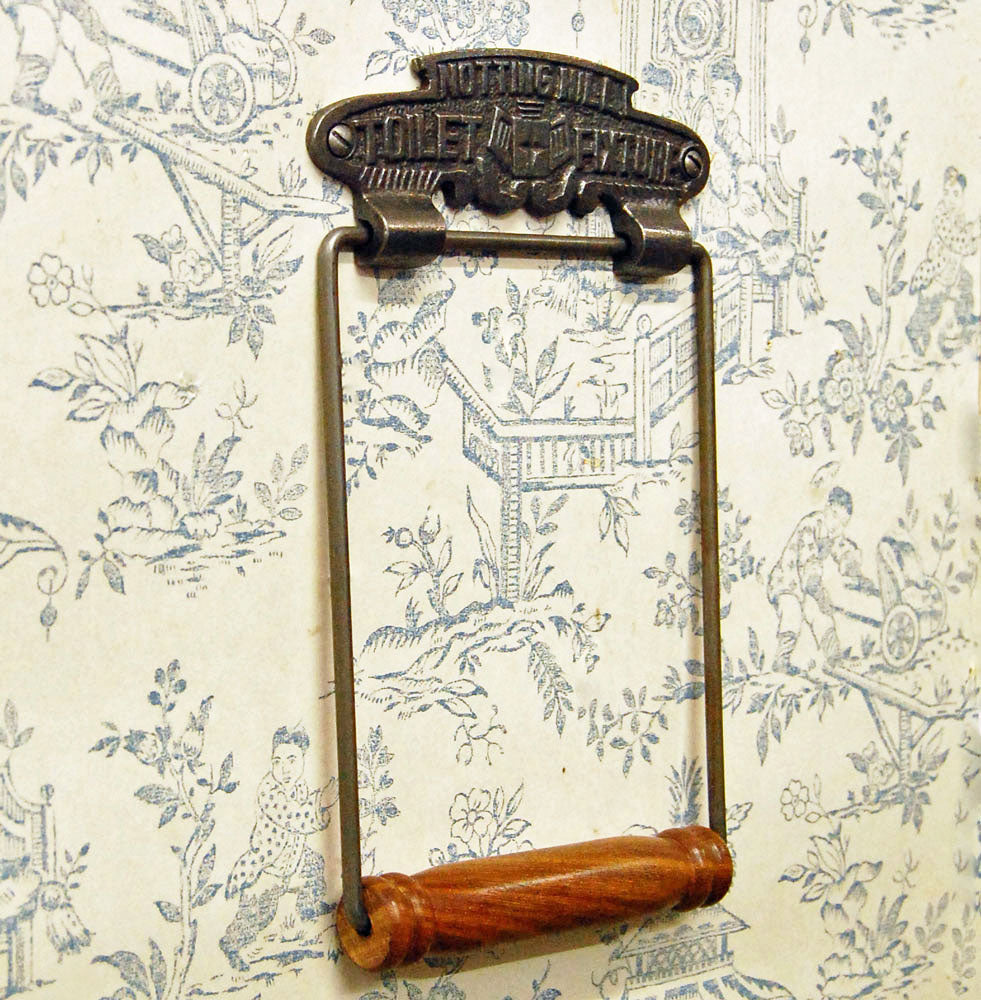 Vintage Notting Hill wall mounted toilet loo roll holder.