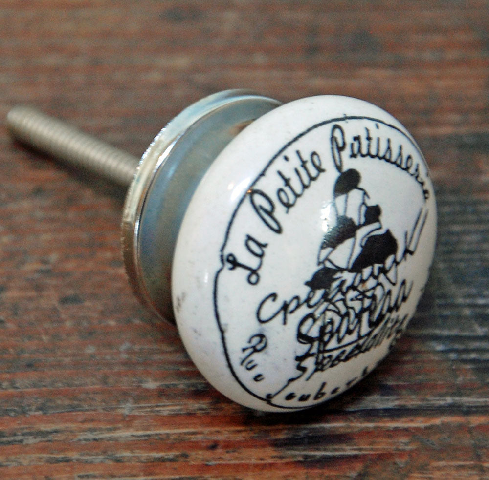 French vintage style petit patisserie drawer knob