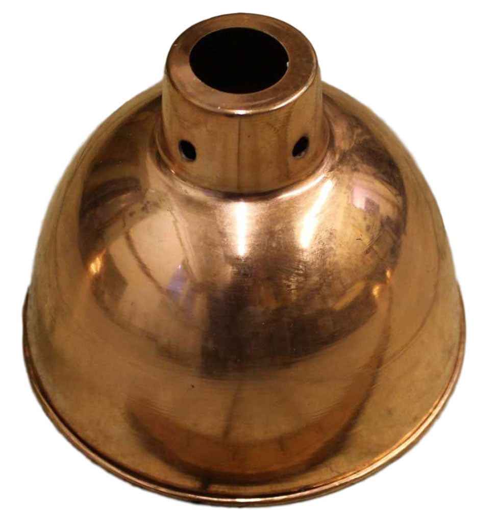 Helmsley small polished copper domed 150mm pendant metal shade