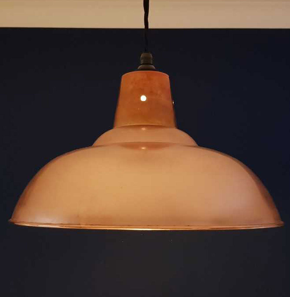 Large retro polished copper pendant ceiling light shade 360mm
